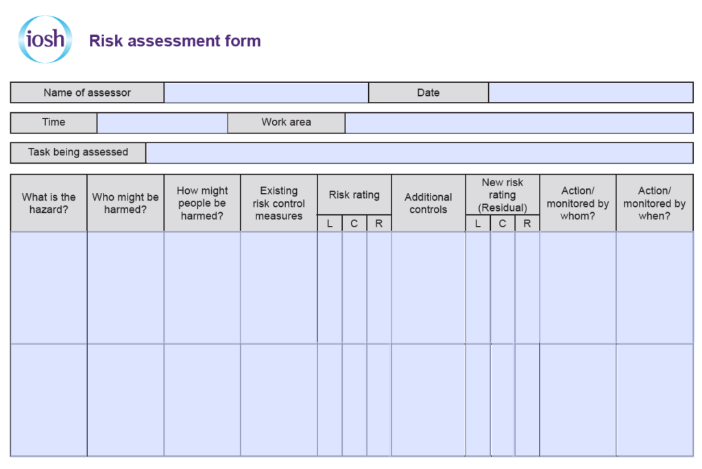 IOSH Managing Safely Project Template