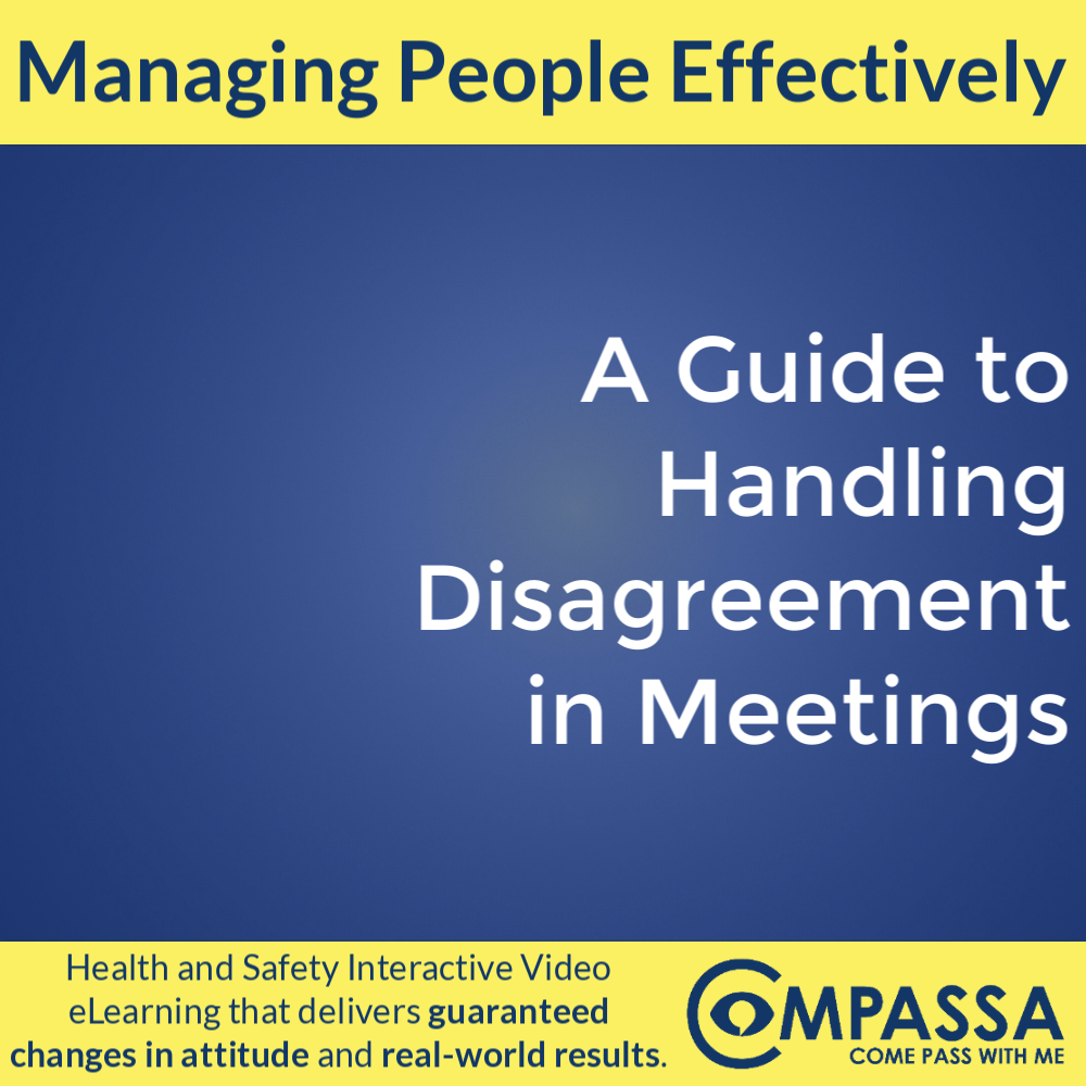 A Guide to Handling Disagreement in Meetings