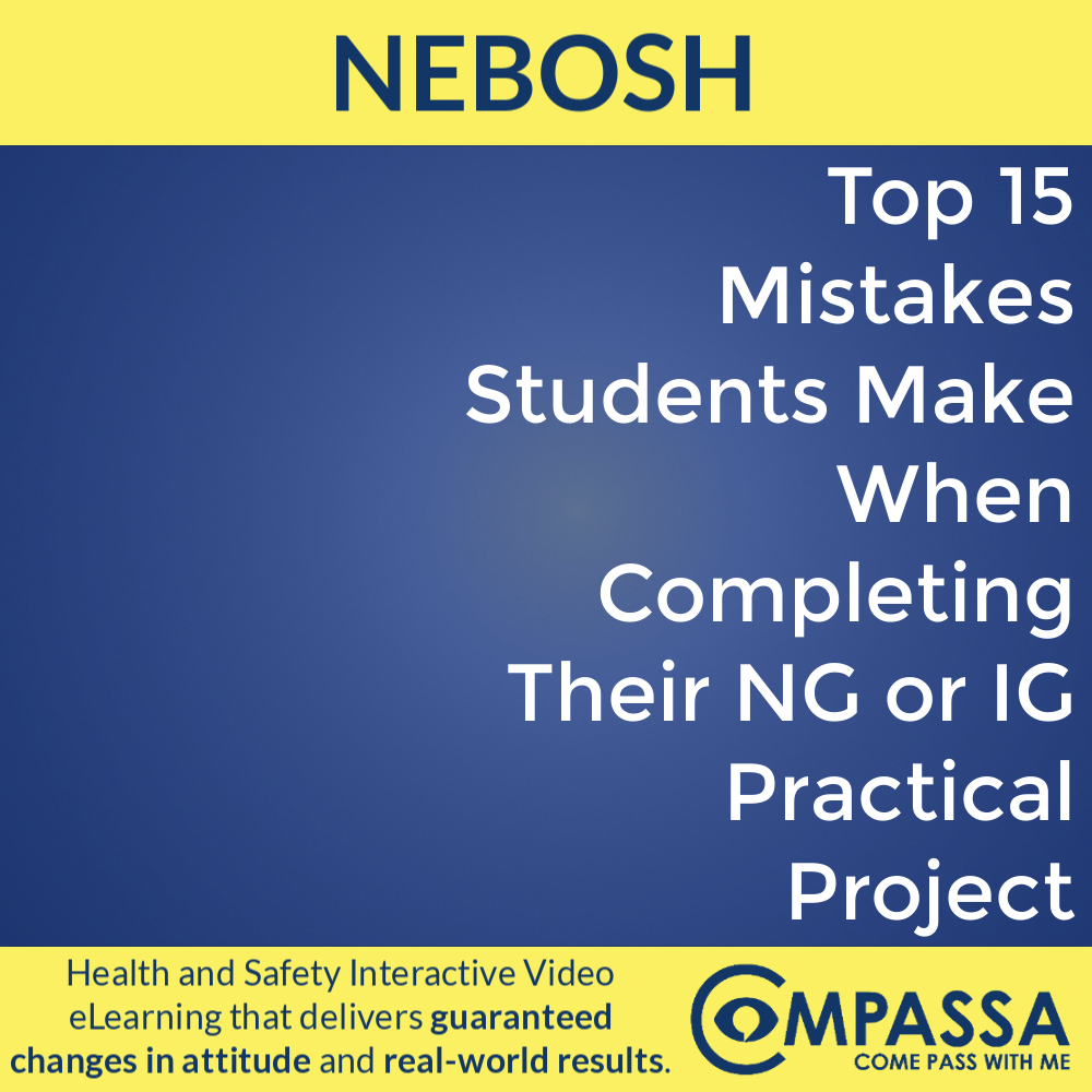 Top 15 Mistakes Students Make When Completing Their NG or IG Practical Project